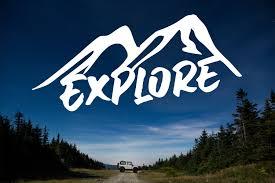 Explore Vinyl Decal Explore Outdoor Vinyl Decal Explore Vinyl Sticker Outdoor Adventure Decal Explore Car Decal Explore Outdoor Decal