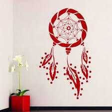 Shop Dream Catcher Design Feathers Home Vinyl Sticker Decal Mural Wall Decor Sticker Decal 44 X 60 Black On Sale Overstock 15389736
