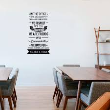 Amazon Com Vinyl Wall Art Decal In This Office We Do Teamwork 40 X 22 Trendy Inspirational Work Values Quote For Employers Office Office Meetings Conference Room Company Organization School
