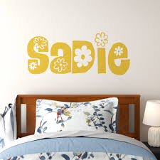 Winston Porter Floral Name Wall Decal Wayfair