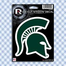 Michigan State Spartans Msu Car Window Decals Stickers