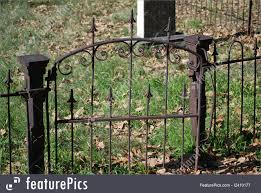 Picture Of Century Old Cemetery Gate