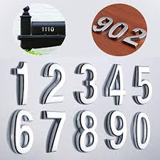Choose From 40 Colors Custom Home Business Street House Apartment Address Numbers Outdoor Vinyl Letter Number Decal Window Door Sticker Text 1060 Graphics 2 High Mailbox Numbers