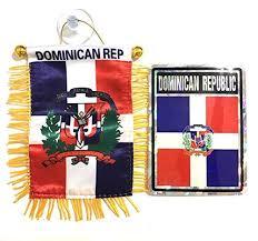 Dominican Republic Flag Car Sticker Decal