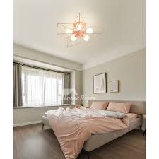 Pentagram Kids Ceiling Lighting Star Girl S Room Pink Wrought Iron Black Green Bedroom Decorative