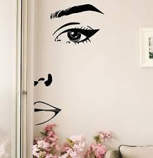 Half Face Wall Decal Home Decor Girl Face Lady Woman Beauty Sticker Vinyl Art Ebay