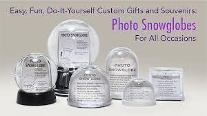 snow globes kits photo souvenir