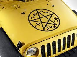 Car Window Supernatural Mark Of Cain Symbol Hell Sticker Vinyl Decal Laptop
