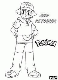 Ash Ketchum Pokemonkleurplaten Http Www Pokemon Kleurplaat Nl