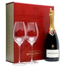send bollinger chagne gift set worldwide