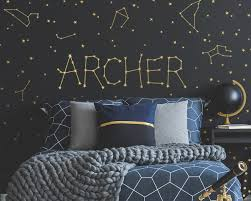 Custom Name Vinyl Decal Personalized Name Vinyl Decal Personalized Kids Name Custom Kids Name Custom Nursery Decal Constellations Decal