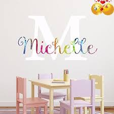 Price Tracking For Nursery Rainbow Custom Name Wall Decal Sticker 23 W By 13 H Girl Name Wall Decal Girls Name Wall Decor Personalized Girls Name Decor Personalized Wall Decals