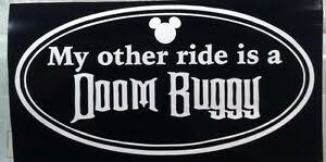 My Other Ride Is A Doom Buggy Vinyl Decal Ebay