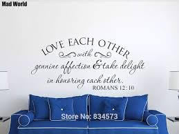 Love Each Other With Genuine Affection Scripture Wall Art Stickers Wall Decals Home Diy Decoration Removable Decor Wall Stickers Wall Stickers Aliexpress