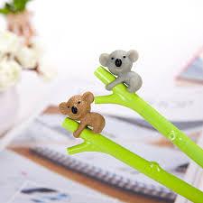 0 99 Cute Creative Koala Branches Black Gel Ink Pen Stationery