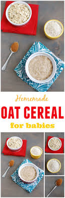 homemade oat cereal for es