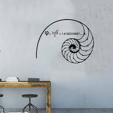 Fibonacci Spiral Vinyl Decal Golden Ratio Sticker Math Sticker Science Decal