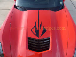 2014 2019 C7 Corvette Hood Stingray Logo Graphic Decals Vettestripes Com