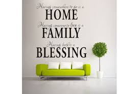 Home Family Blessing Home Decor Creative Wall Decal Quotes Decorative Removable Vinyl Wall Sticker Wish