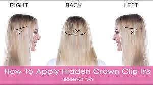 how to apply hidden crown clip ins