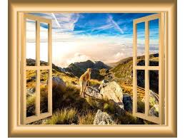 Vwaq Mountains Window Wall Decal Nature Wall Decor Peel And Stick Mural Med Vwaq Nw47 Newegg Com