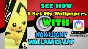 nox lucky wallpaper app