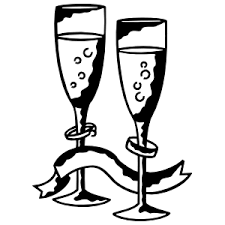 Champagne Glasses For Just Married Or Wedding Sticker