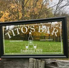 custom personalized liquor bar