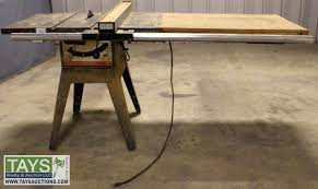 Tays Realty Auction Auction Tays Facility September Auction Item Sears Craftsman Table Saw With Built On Deck And Vega 986 Adjustable Fence System