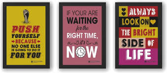 wall art motivational quotes inspirational combo framed posters