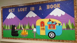 Happy Camper Book Fair Bulletin Board Camping Theme Classroom Camping Classroom Classroom Themes