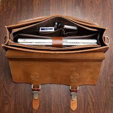 j m d vintage leather top handbag men s