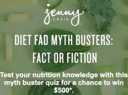 jenny craig myth buster sweepstakes