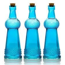savannah turquoise vintage glass bottle