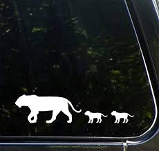 Amazon Com Yadda Yadda Design Co Lion Mom And Baby Cubs Car Vinyl Decal Sticker Copyright 8 5 W X 2 H 2 Cubs White Automotive