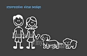 Stick Family Custom Black Or White Dog Lovers Decal Sticker Etsy Stick Family Custom Vinyl Custom Decal Stickers