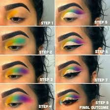 colorful eye makeup cat eye makeup