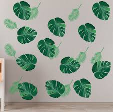 Palm Leaf Wall Decal Palm Leaves Wall Decals Tropical Leaf Etsy