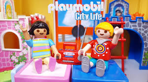 New Playmobil Boy Girl Children S Room With Princess And Knights Bed Playset 9270 Youtube