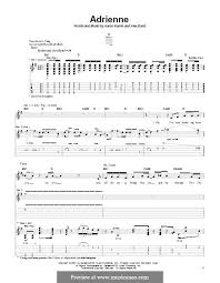 Adrienne (The Calling) by A. Kamin, A. Band - sheet music on MusicaNeo