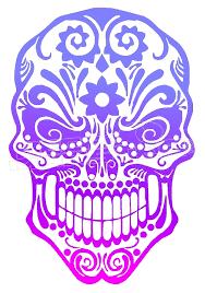 Sugar Skull Silhouette Decal Sticker Dm Decalmonster Com