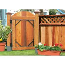 Peak Products Rustic Black Fence Gate Kit 2440 The Home Depot