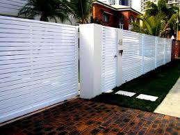 12 White Horizontal Slats Modern Fence Design Fence Design Backyard Fences