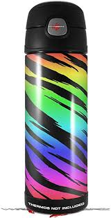 Amazon Com Skin Decal Wrap For Thermos Funtainer 16oz Bottle Tiger Rainbow Bottle Not Included By Wraptorskinz Kitchen Dining