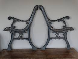 support cast iron garden bench 2