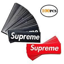 Big Size Supreme Box Logo Red Sticker Vinyl Decal Skateboard Nyc Bumper Laptop