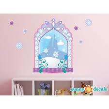 Sunny Decals Frozen Inspired Ice Castle Window Fabric Wall Decal Wayfair