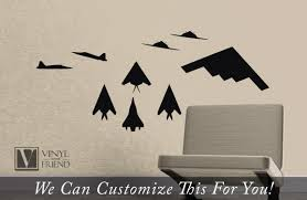 Stealth Fighter Jets Pack Of 9 Us Military Jets Profile And Top Views A Wall Decor Vinyl Decal Sticker Graphic Art 2367