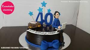 40th birthday cakes for men design