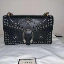 dionysus shoulder bag studded leather